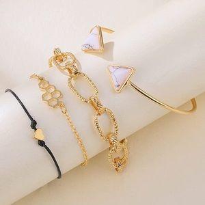 Gold Dainty Layered Bracelets NEW